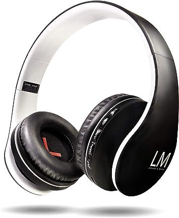Louise&Mann Auriculares Bluetooth Diadema, Cascos Bluetooth 5.0 Inalámbricos, Casco Inalámbrico Plegable, 15Hrs de la Batería, con Micrófono, Micro SD, FM Radio para Móvil,PC,TV,Tablet: Amazon.es: Electrónica