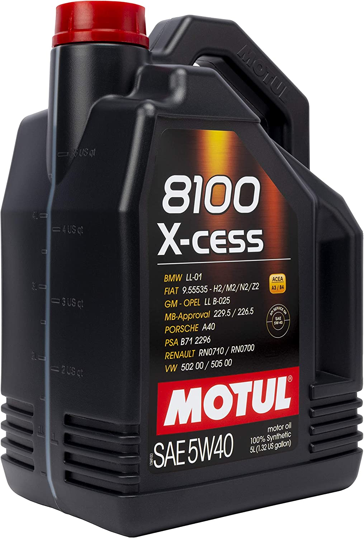 MOTUL 7250 Aceite DE Motor 8100 X-Cess 5W40 5 litros, 5 Liters (169.07 Ounces)