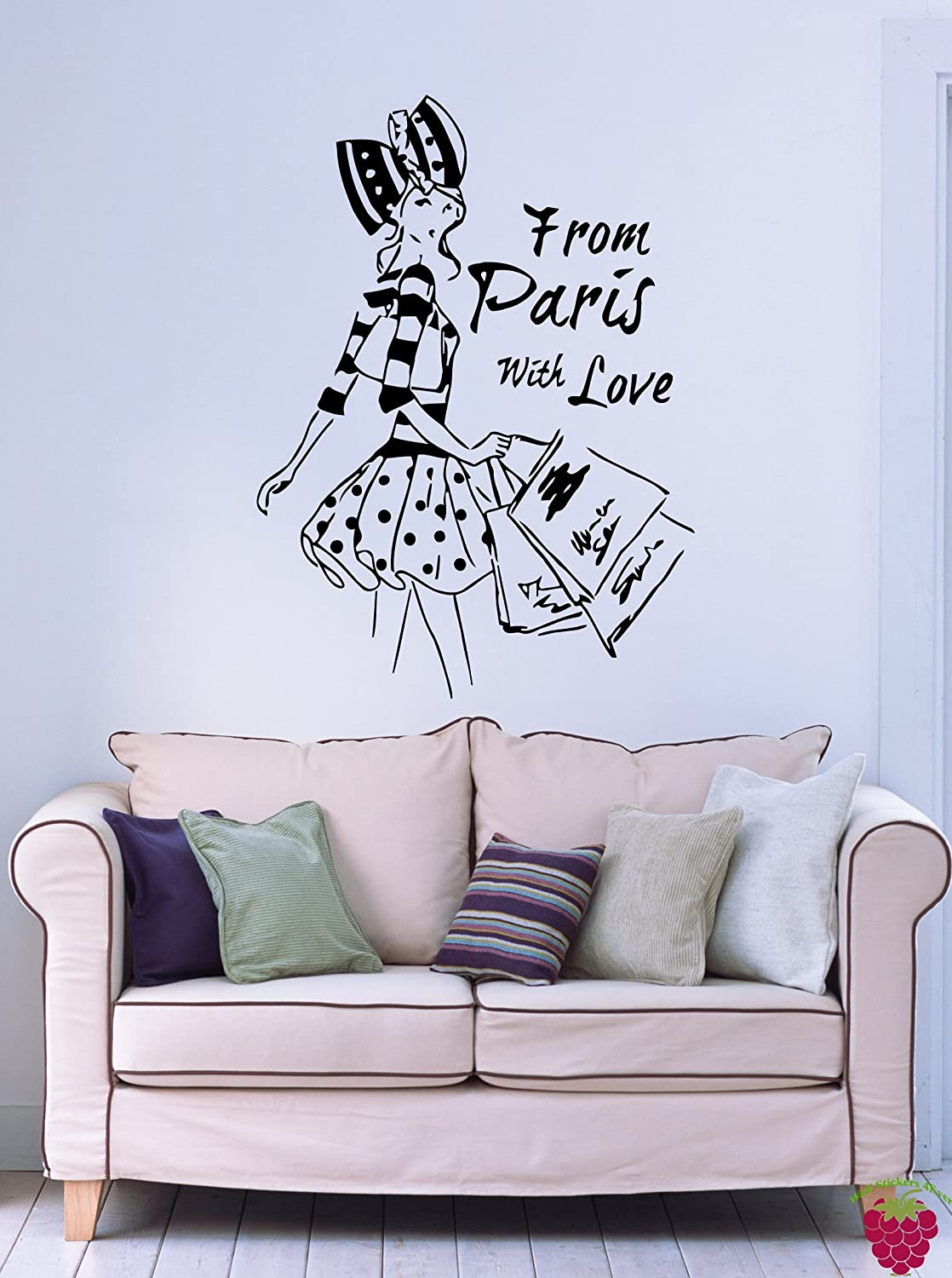Amazoncom From Paris with Love French Fashion Woman Decor Wall Art