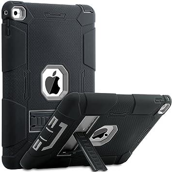 BENTOBEN iPad Air 2 Funda, iPad Air 2 Funda, Heavy Duty 3 en 1 Híbrido Protección Antigolpes Durable Carcasa a Prueba de Golpes Soporte Plegable ...
