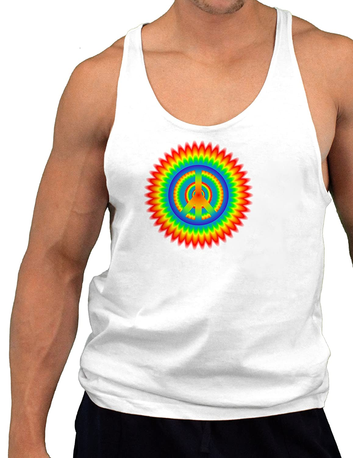 Psychedelic Peace Mens String Tank Top