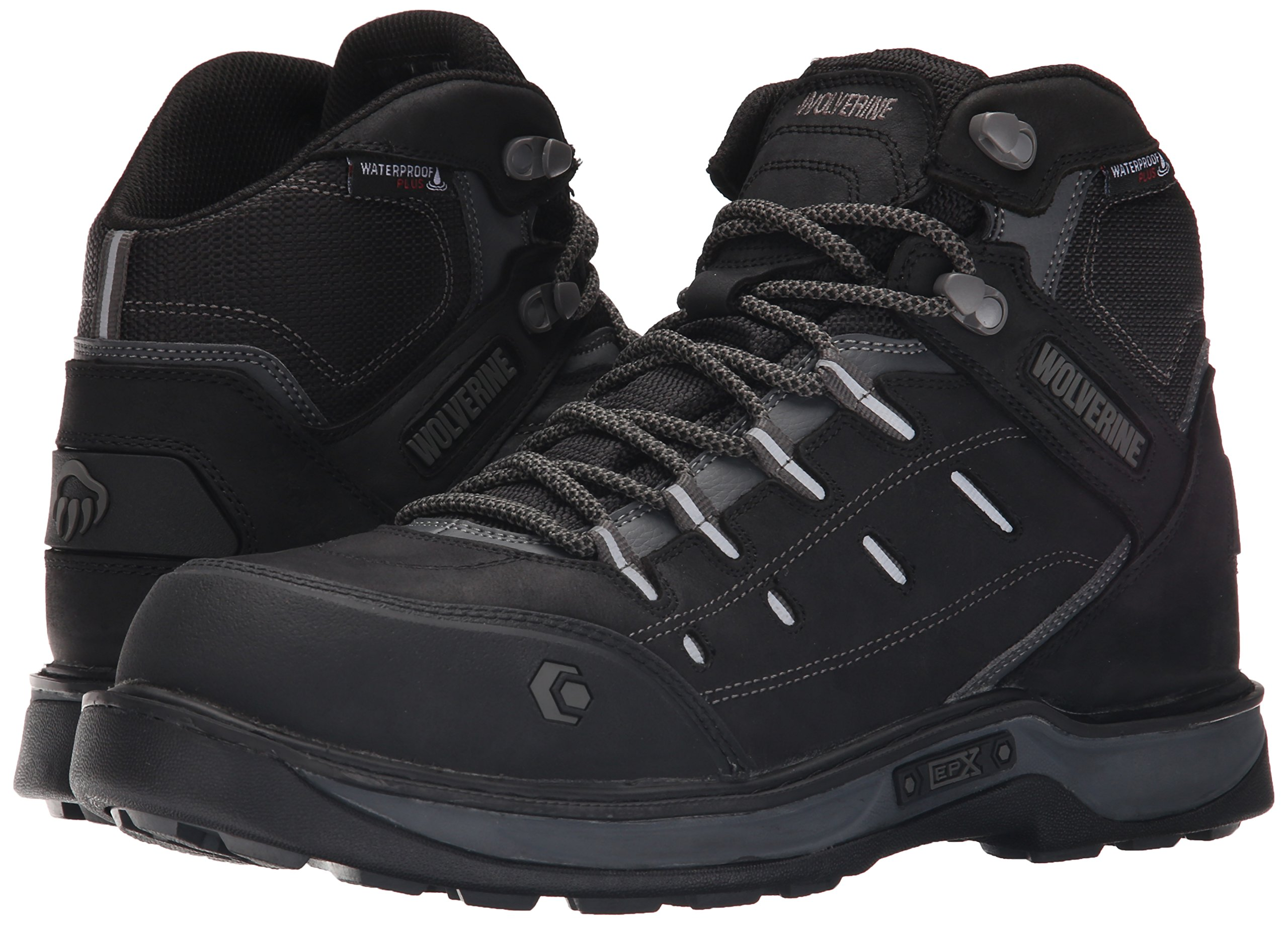 Wolverine Men's Edge LX Nano Toe Work Boot, Black/Grey, 11.5 M US by Wolverine (Image #6)