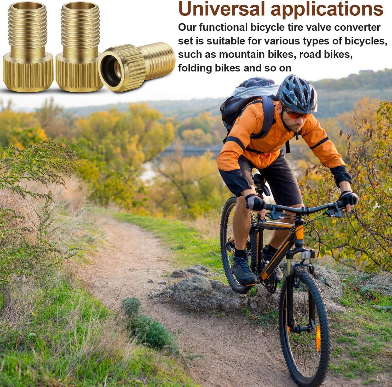 Boao 20 St/ücke Fahrrad Presta Ventil Adapter Konvertieren Presta Schrader Fahrradreifen Ventil Konverter f/ür Fahrradreifen Luftpumpe