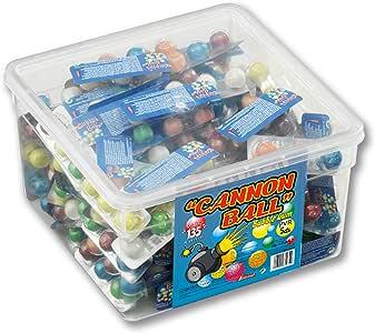 Cannonball - Chicle sabor tutti frutti - Bote de 135 unidades: Amazon.es: Alimentación y bebidas