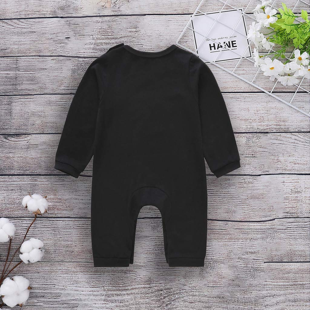 squarex Infant Kids Baby Boys Long Sleeve Eyes Romper Jumpsuit Outfits Clothes Tracksuits