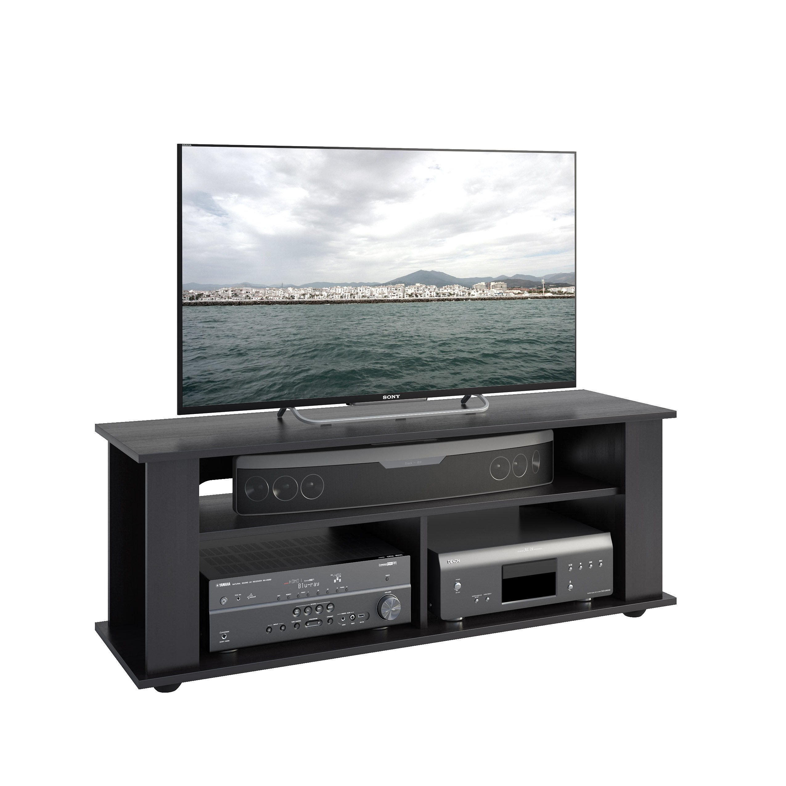 CorLiving TBF-604-B Bakersfield Ravenwood TV/Component Stand, Black