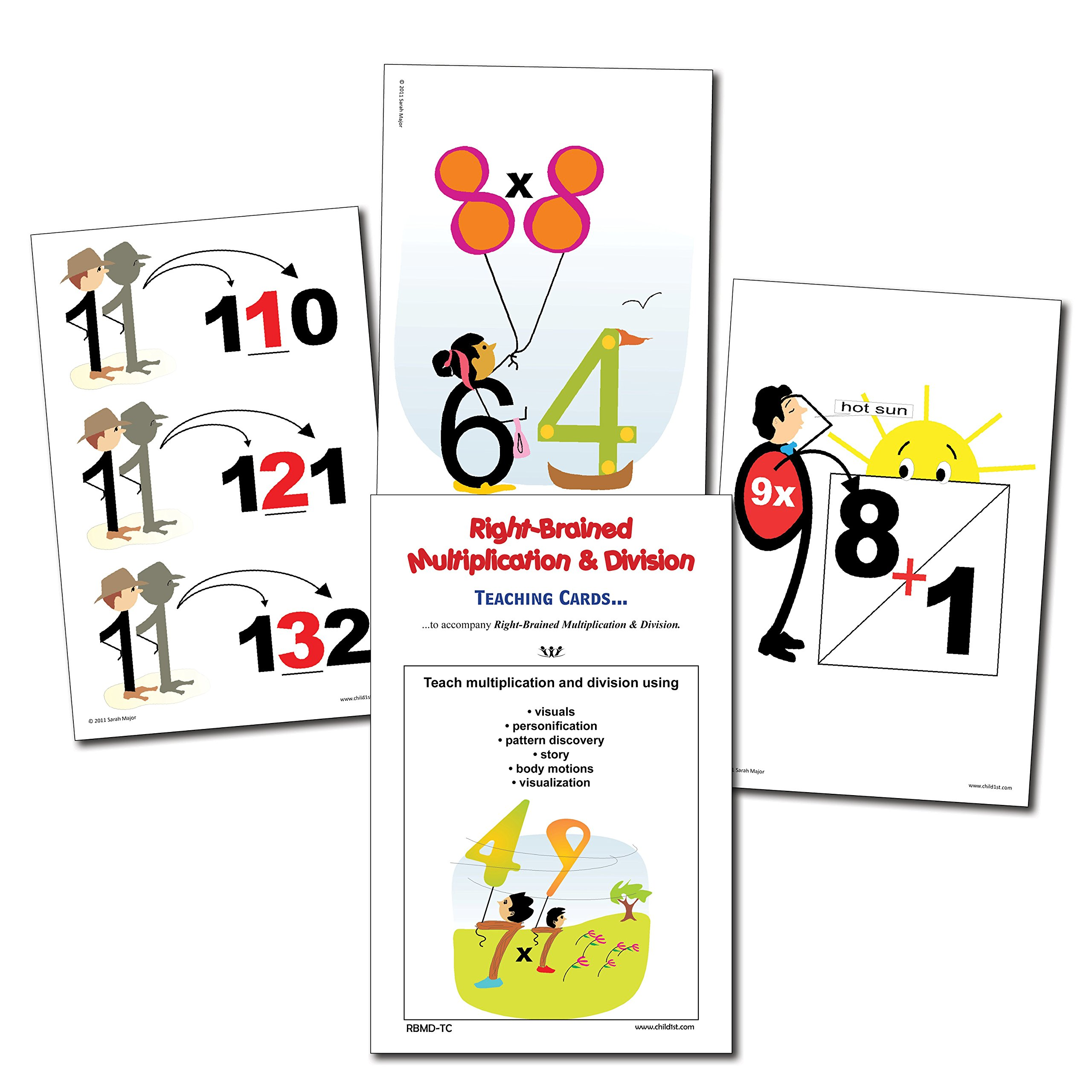 Right-Brained Multiplication & Division Teaching Cards by Child1st Publications, LLC