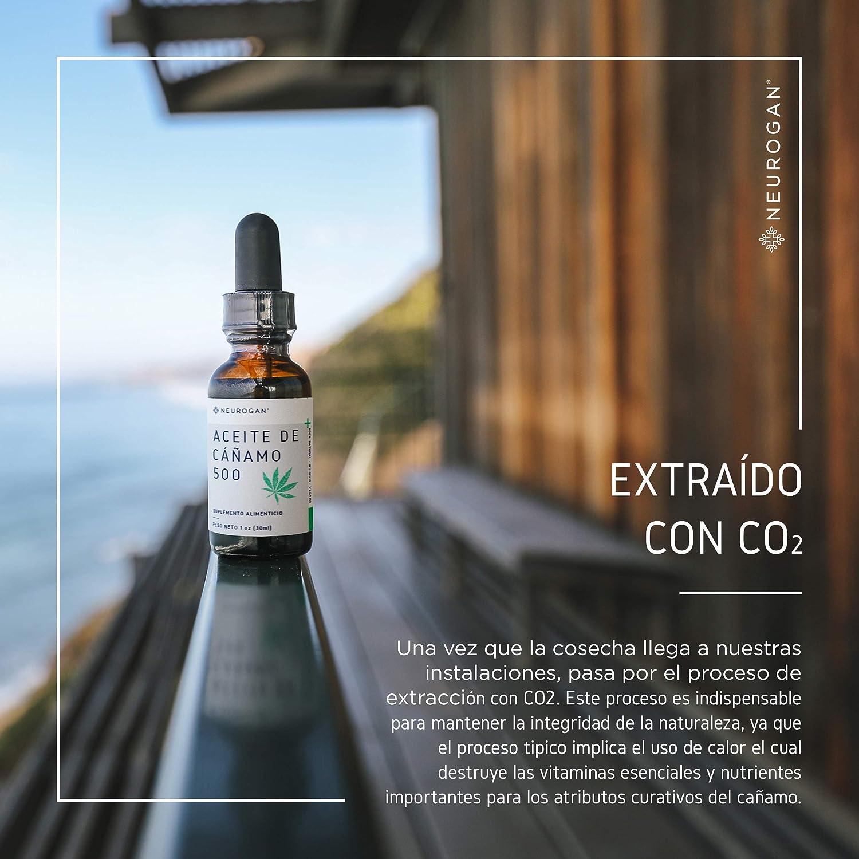 Neurogan Semillas de Cáñamo 30 ml, 500 MG, Aceite Vegetal 100% Puro, Rica Fuente de Omega 3 y 6, Sueño más Profundo, Analgésico y Antiinflamatorio: ...