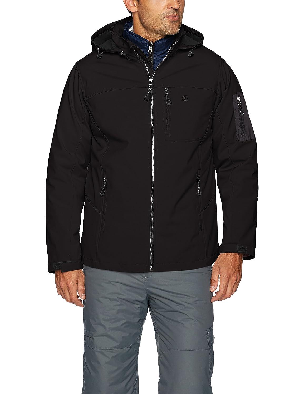 Izod Mens 3-in-1 Soft-Shell Systems Jacket IZOD Mens Outerwear IZ3739