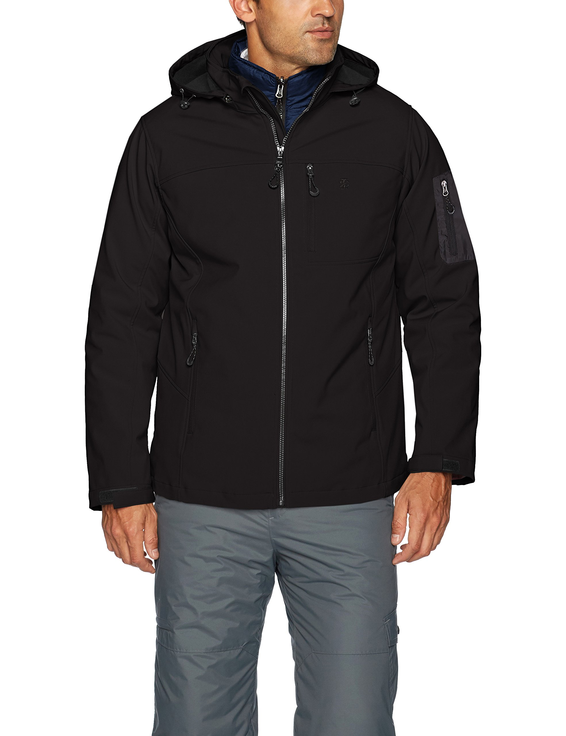 IZOD Men's 3-in-1 Soft-Shell Systems Jacket, Black, M by IZOD