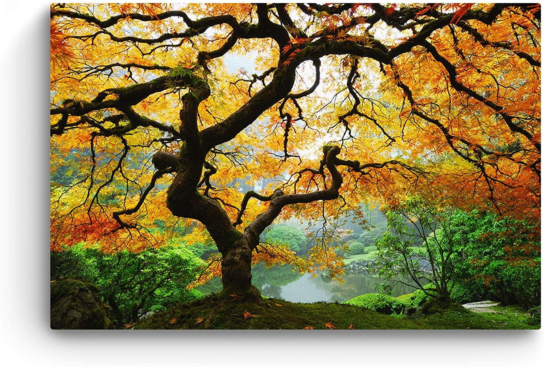 interior design Angel Oak Tree Canvas Print Wall Art brown Giclee home art decor wall decor Nature tree art for decor beige color
