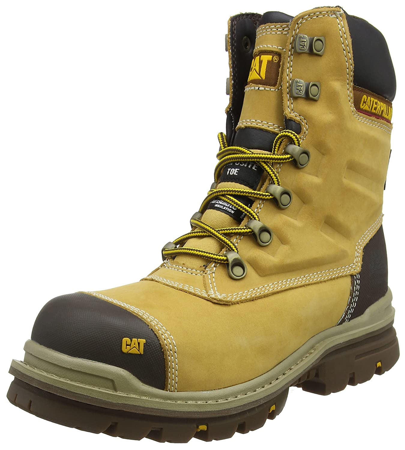 Cat ® GRAVEL S3 P717675 Mens Steel Toe Cap Leather Safety Boots Dark Beige