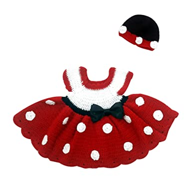 67a2cd6fc Nouf Creation Hand Made Baby Girls Party Wear Woolen Dress with Cap ...