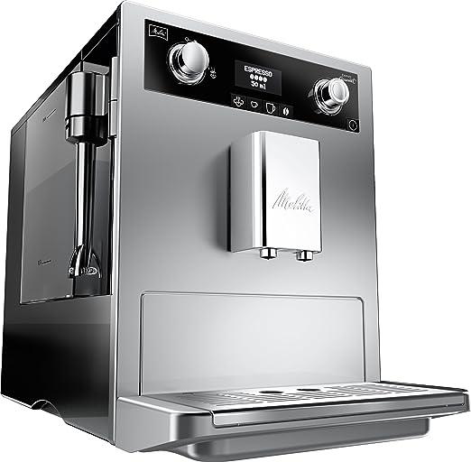 Melitta 965-101 - Cafetera automaticá (1.8L, 15 bar, 1500 W), con molinillo integrado, boquilla de vapor Perfect Cappucino,color plata: Amazon.es: Hogar