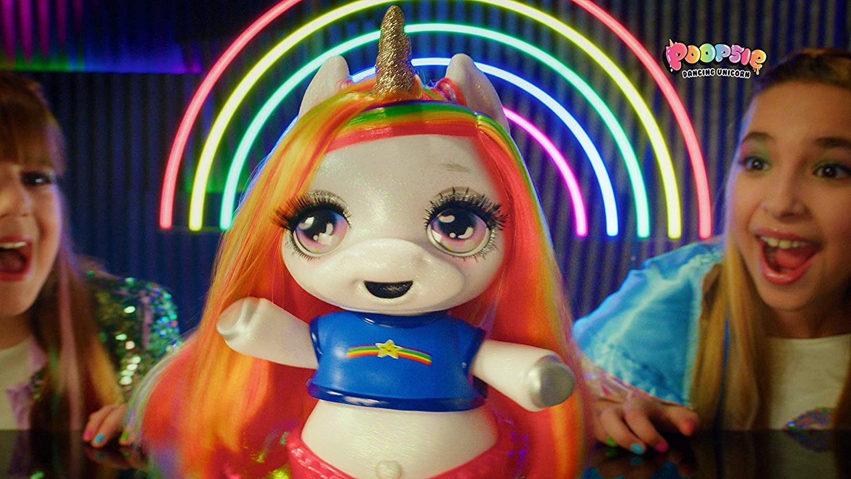 Poopsie Dancing Rainbow Brightstar Dancing /& Singing Unicorn Doll-Battery-Operated Pet Toy for Kids