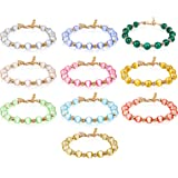 TOMAY 2021 New Natural Stone Semi Precious 0.3inch Gorgeous Pink Healing Crystal Bracelet for Women Healing Stretch Beaded Ad
