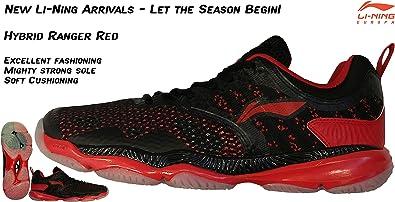 Li Ning AYAN017-3 - Zapatillas de bádminton de Sintético para Hombre Negro Negro, Color Negro, Talla EU39- UK5,5- US6,5-240mm: Amazon.es: Zapatos y complementos