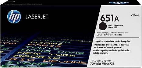 Amazon.com: HP 651 A (CE340 A) Black Original LaserJet Toner ...