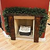 Premier 270cm (9ft) x 25cm Plain Green Christmas Garland Decoration