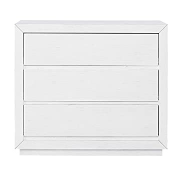 Amazon Com Evolur Maddox 3 Drawer Chest Weathered White Baby