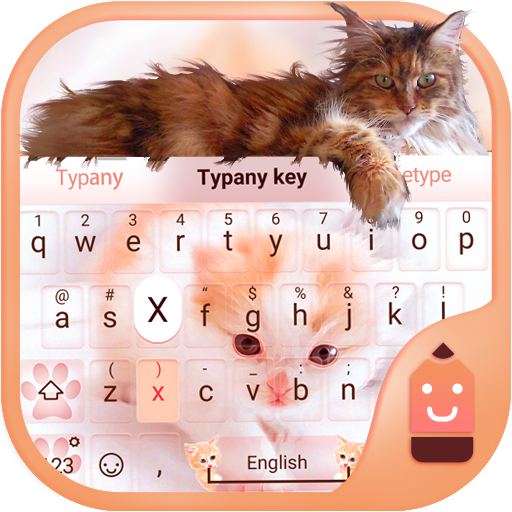 Cute Cat Theme&Emoji Keyboard]()