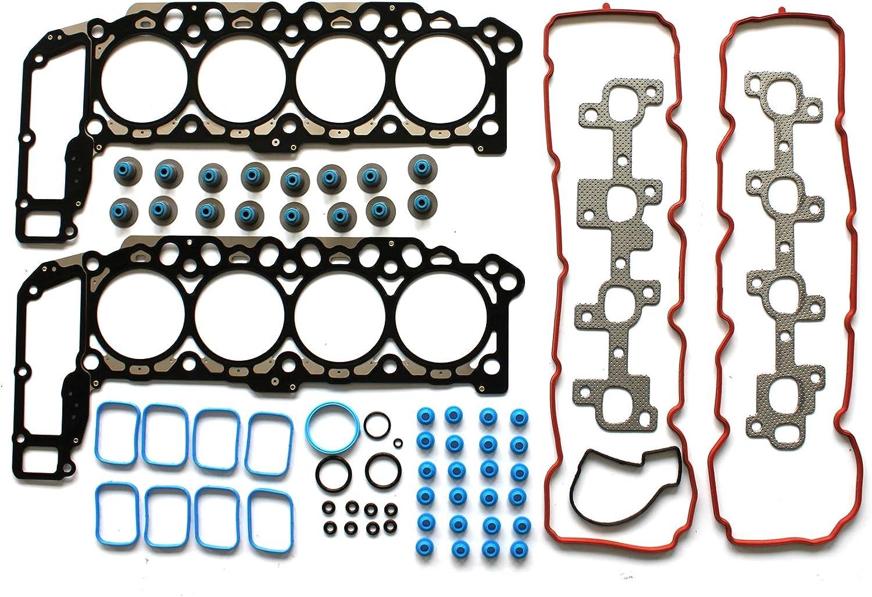 1A Auto Engine Cylinder Head Bolt Set of 14 Kit for Dodge Pickup Truck Jeep V8 4.7L
