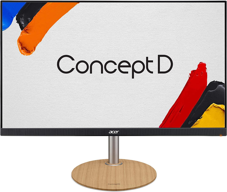 "ConceptD CP1 CP1271 Vbmiiprzx 27"" Full HD 1920 x 1080 IPS Monitor, 144Hz (Overclock Mode 165Hz), 2ms (G to G)-Up to 0.1ms (G to G), DCI-P3 91%, Delta E<2 (1 x Display Port, 2 x HDMI 2.0, 4 x USB 3.0)"