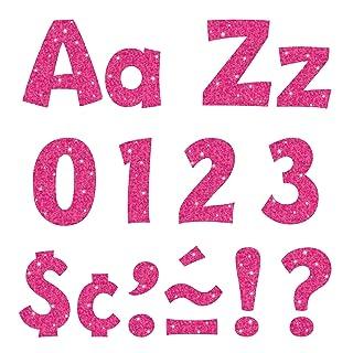 Trend Enterprises Sparkle Playful Combo Ready Letters (216 pezzi), 4 , rosa caldo