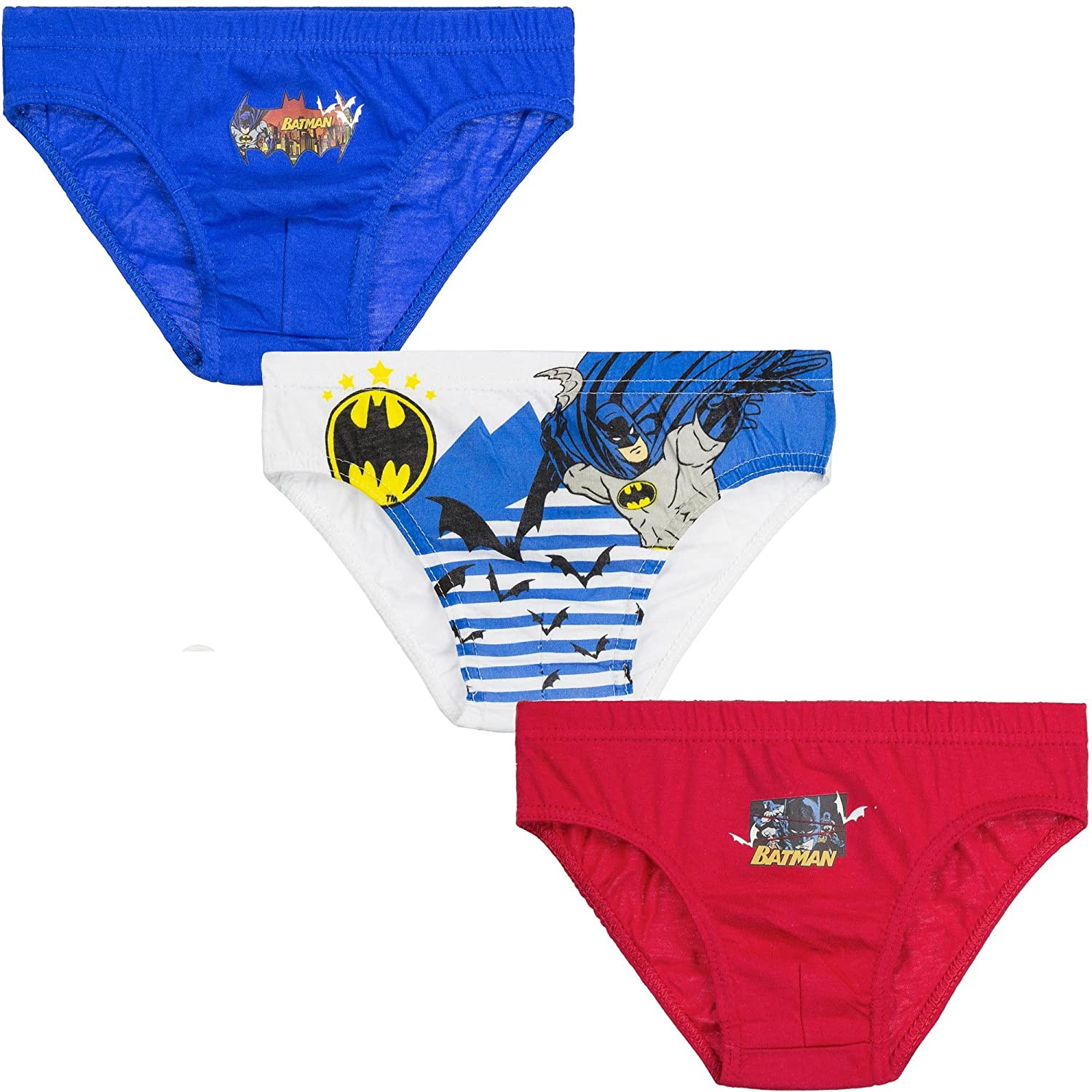 Boys Batman Briefs Pants Size 2 3 4 5 6 7 8 Years Super Hero Knickers Official Character