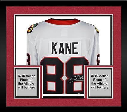 fc4ea66f8 Framed Patrick Kane Chicago Blackhawks Autographed White Fanatics Breakaway  Jersey - Fanatics Authentic Certified