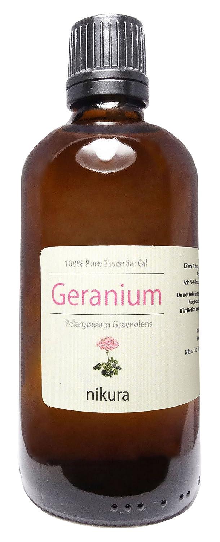 100% Pure Geranium Essential Oil 10ml, 50ml, 100ml (10ml) Nikura