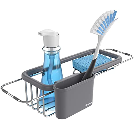 Shanik Premium Quality Sink Organizer - Soap and Sponge Holder for the  Kitchen Sink, Sponge Rack with Rack and Cup for Kitchen Sink Accessories,  ...