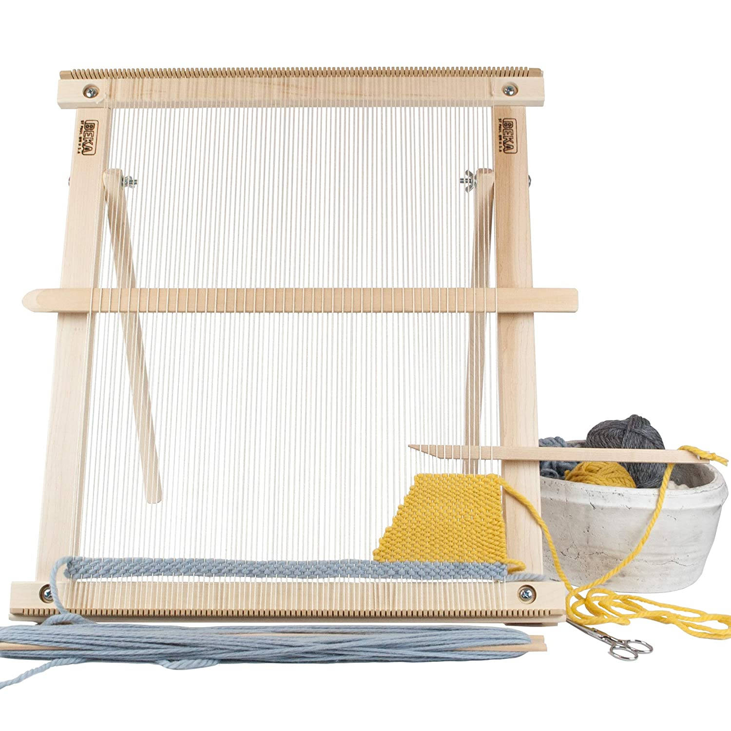 Amazoncom Beka 20 Weaving Frame Loom With Stand The Deluxe