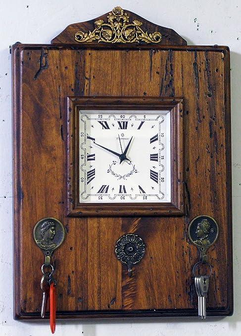 ARREDO SELLI Reloj de pared con ganchos llavero: Amazon.es ...