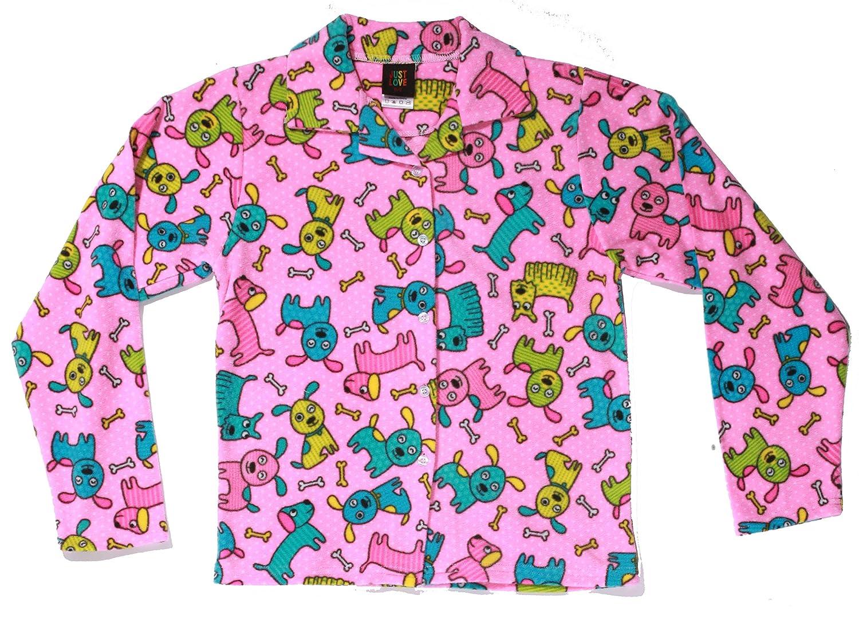 Just Love Girls/' Pajama Coat Set Comfy Warm Microfleece Kids/' Pjs