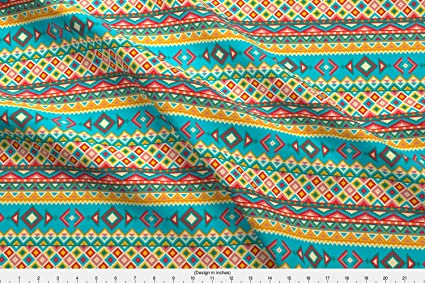Amazon Spoonflower Tribal Pattern Fabric Aztec Tribal Native Simple Aztec Tribal Pattern
