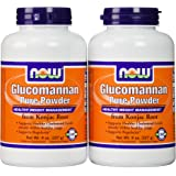 Now Foods Glucomannan 100% Pure Powder 16 OZ (Pack of 2)