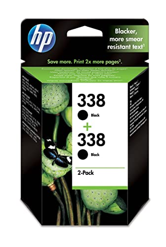 HP 338 2-pack Black Original Ink Cartridges (CB331EE)