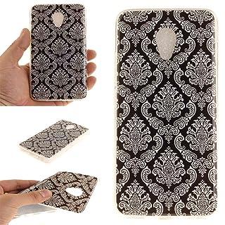 Custodia Cover per Meizu M5 / M611 , Ycloud Antigraffio Antiurto Soft Morbido Ultra Slim Custodia Case Telefono Custodia in silicone - Fiore totem