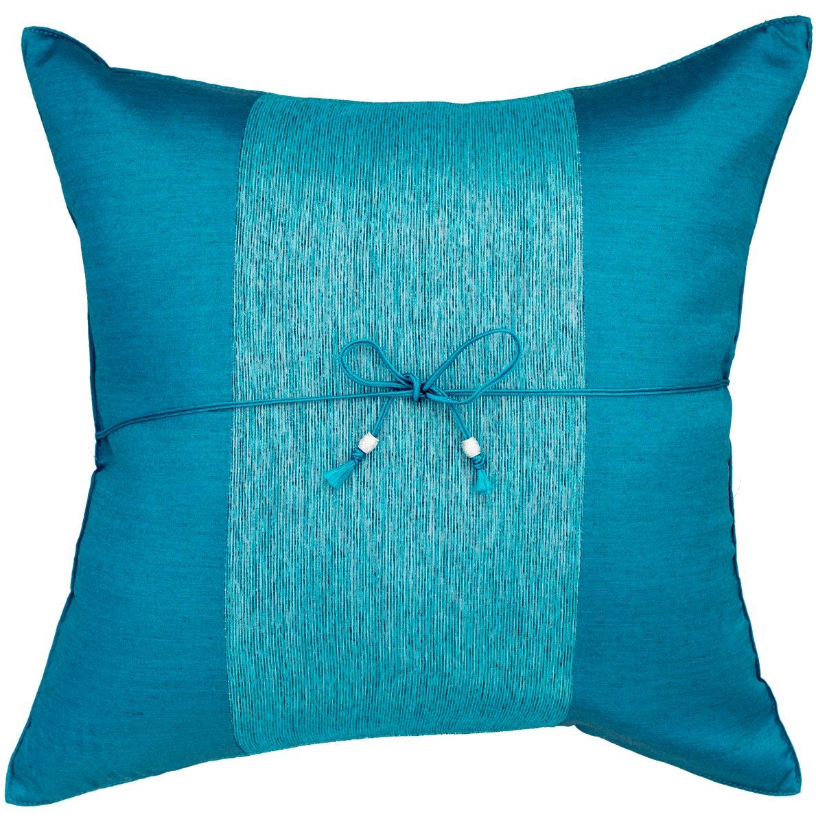 Amazon Com Avarada Striped Crepe Throw Pillow Cover Decorative Sofa