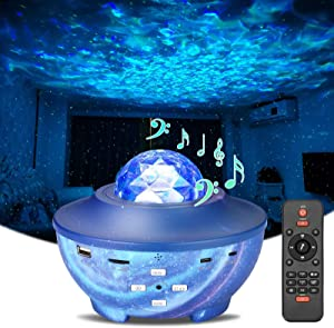 Star Projector Night Light, acetek Galaxy Projector with Bluetooth Music Speaker & Remote Control for Kids Adults, Sky Starry Ocean Wave Skylight Night Light Projector for Bedroom/Party/Home Decor
