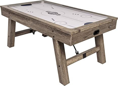 American Legend Brookdale Air-Powered Hockey Table with Rustic Wood Grain Finish
