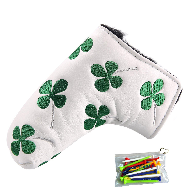 Amazon.com: playeagle bordado verde trébol de cuatro hojas ...
