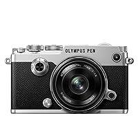 Olympus PEN-F Fotocamera con Obiettivo EW-M1718, Argento