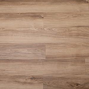 CO-Z 16 PCS 24 Square Feet, Odorless Vinyl Floor Planks Adhesive Floor Tiles 2.0mm Thick, Environmental-Friendly (Light Oak)