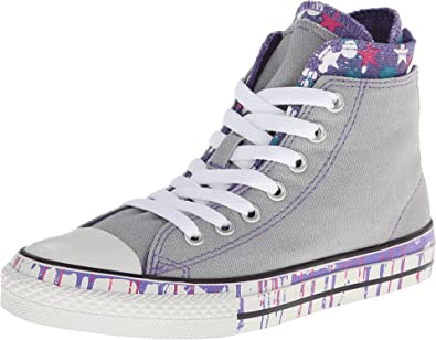 converse grises altas mujer