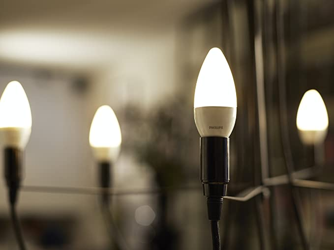 Philips Lighting Bombilla Vela LED de luz cálida, 5,5 W/40 W ...