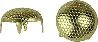 product image for Stippled Pearl Nailhead, Size 40, Solid Brass, Gold Finish, 250 Pieces per Pack