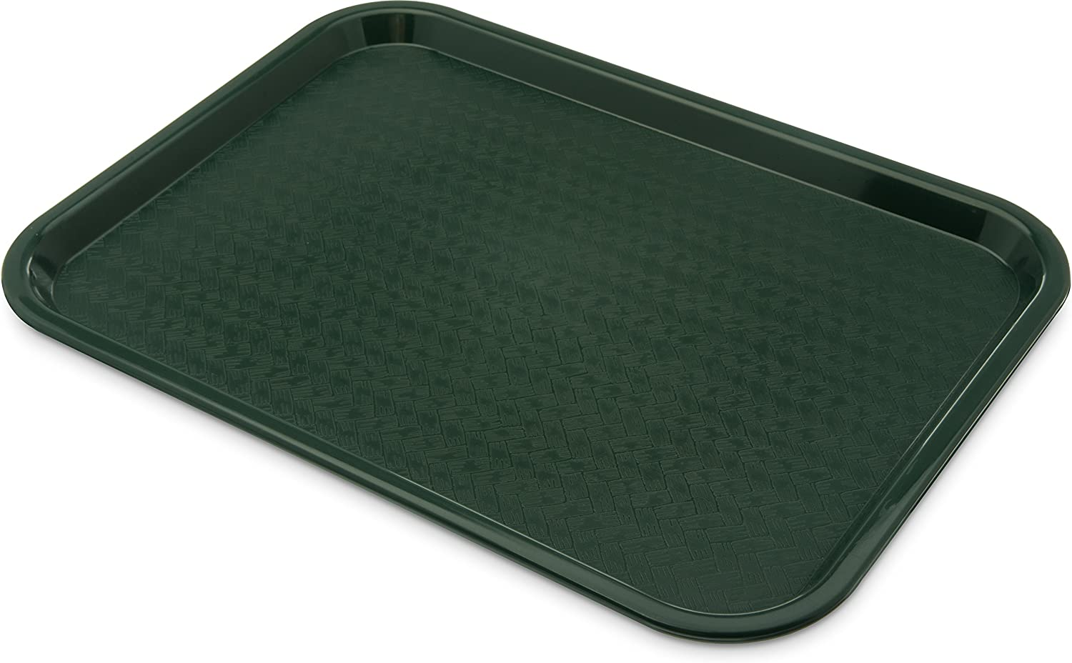 """Carlisle CT121608 Café Standard Cafeteria / Fast Food Tray, 12"""" x 16"""", Forest Green"""