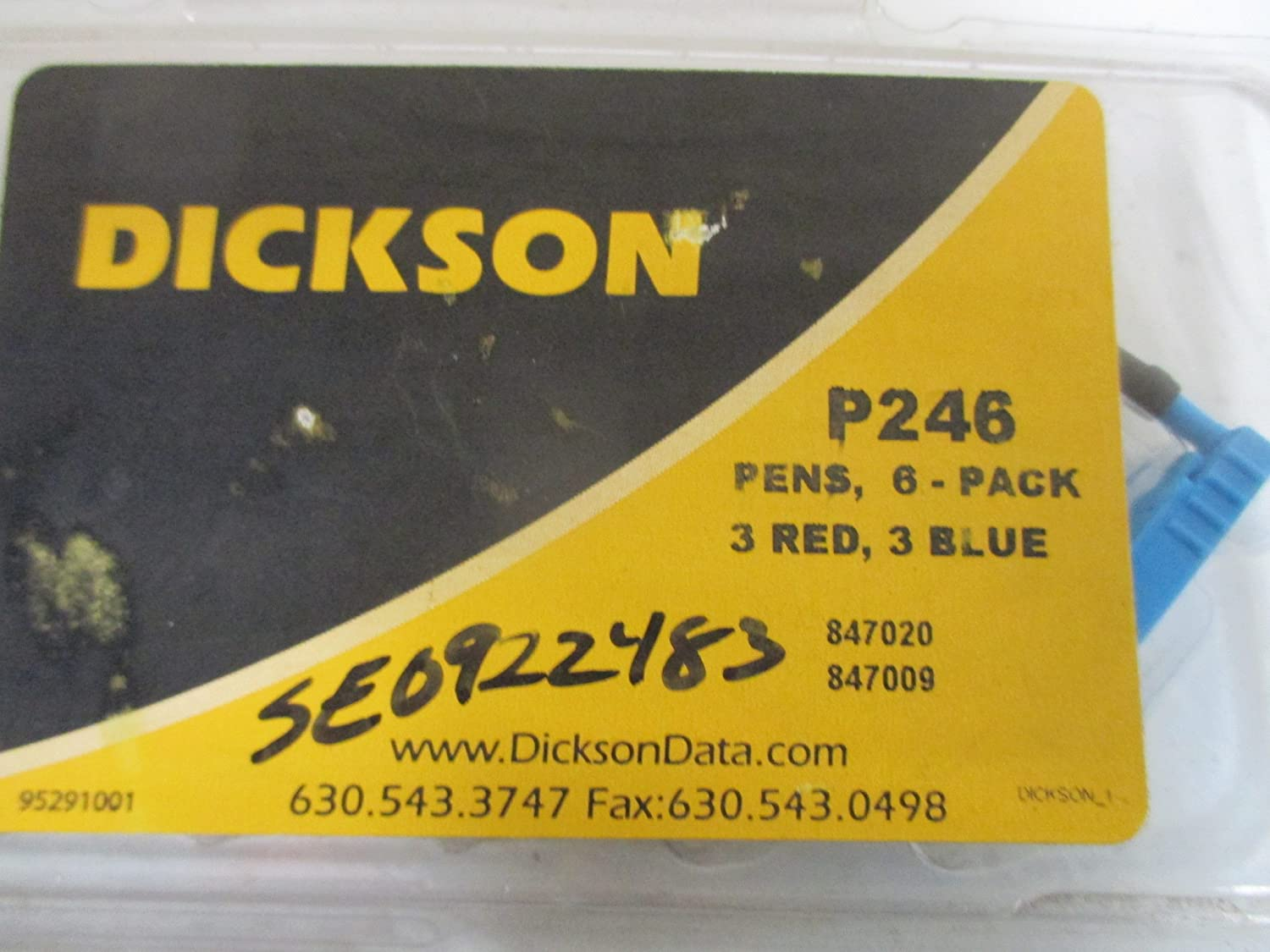 3 Blue DICKSON P246 3 Red Replacement Pen Kit